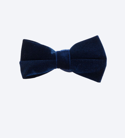 Blue Velvet Bow Tie For Fashionable Men