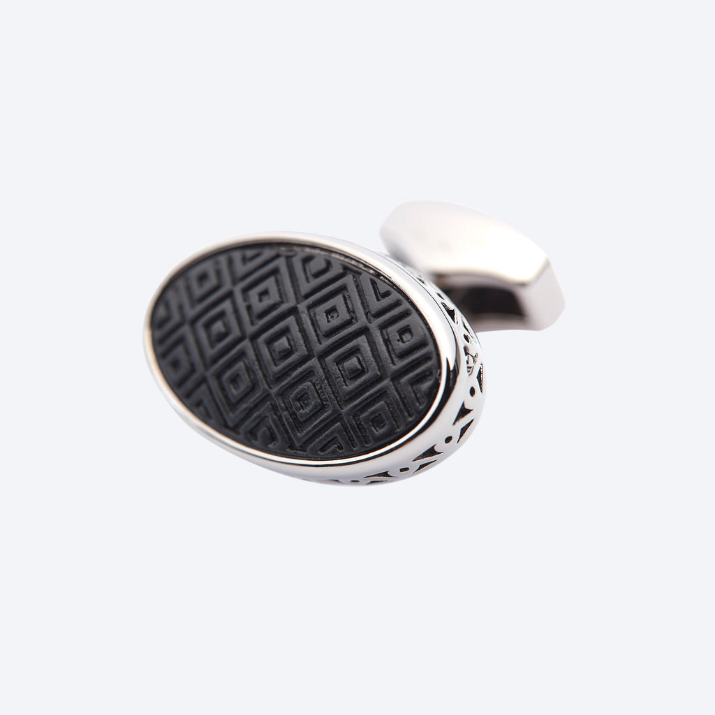 Black Ellipse Cufflink