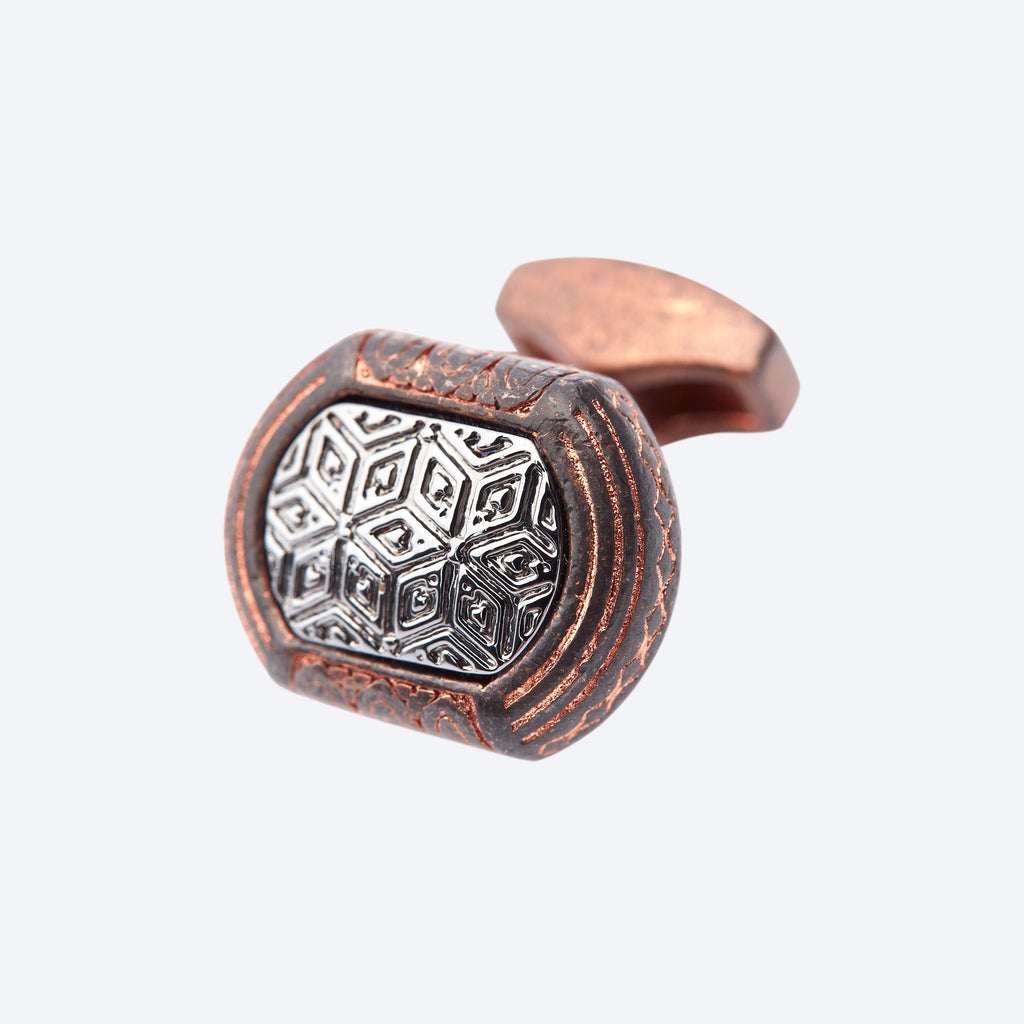 Copper Tribal Cufflink