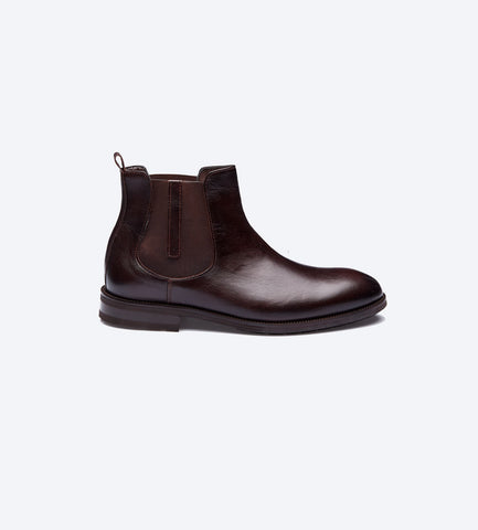 Chestnut Brown Classic Chelsea Boots