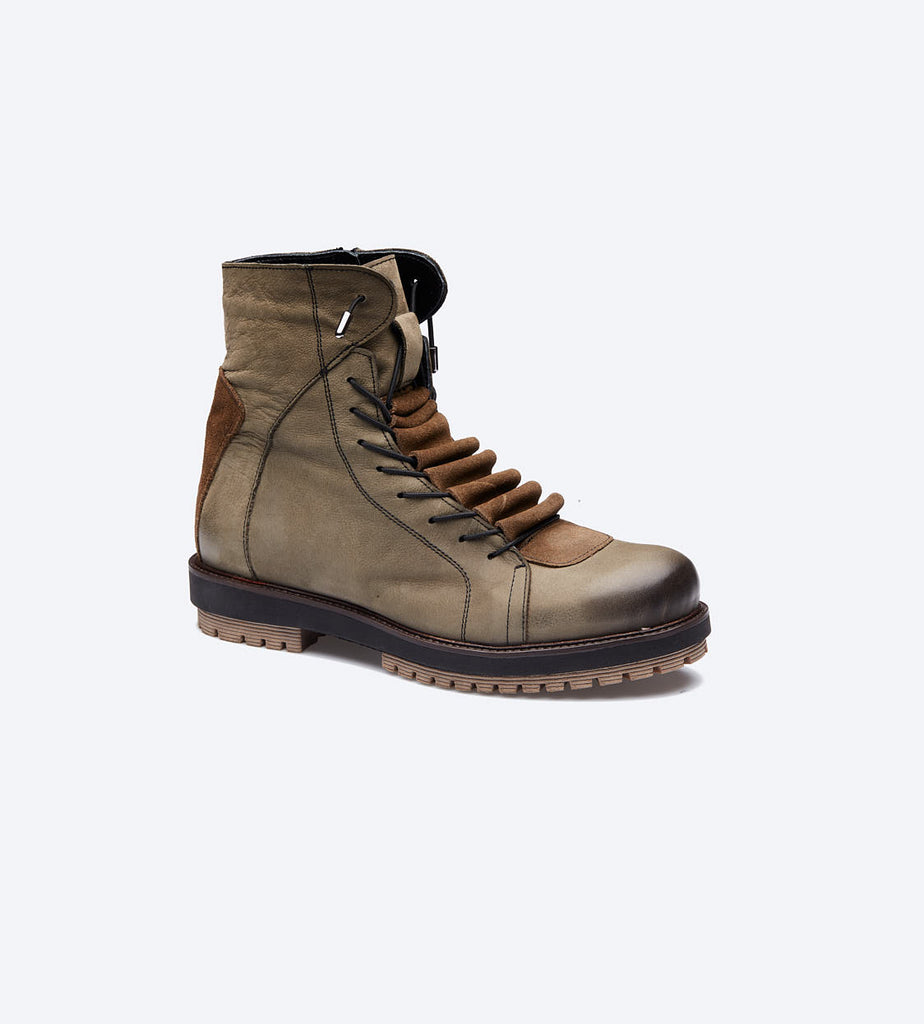 Light Brown Lace-Up Roofer Boots