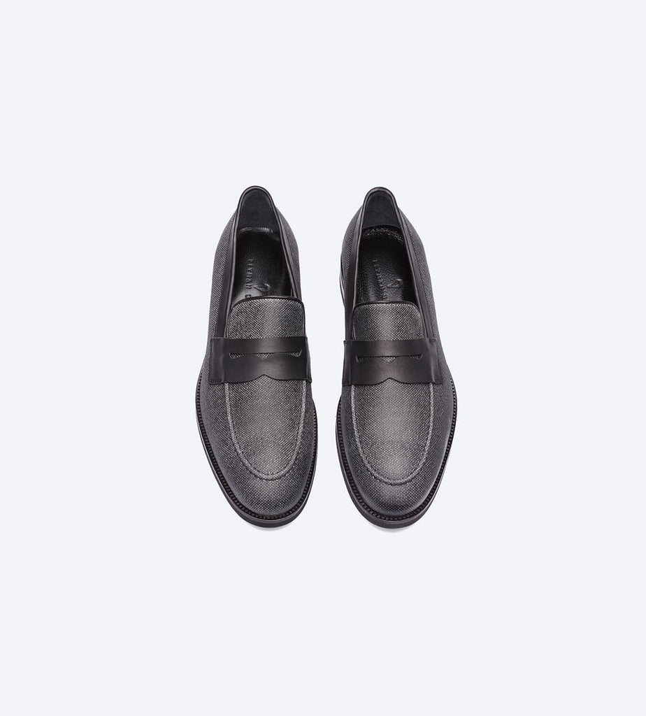 Black Twill Loafer