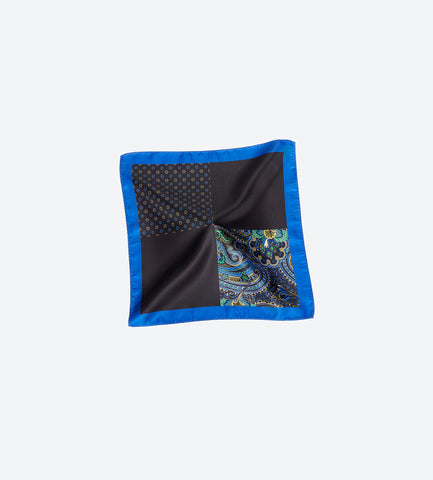 Blue-Black Pocket Square