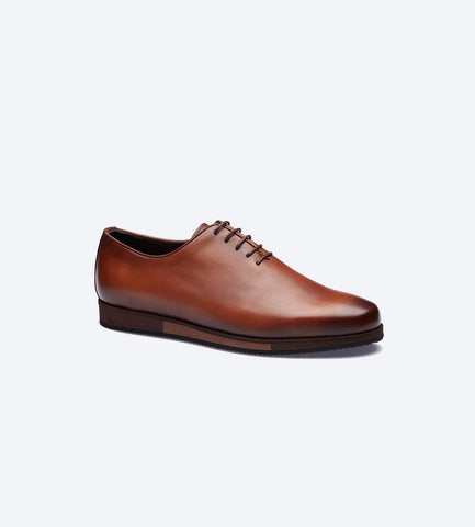 Tobacco Balmoral Plain Toe Shoes