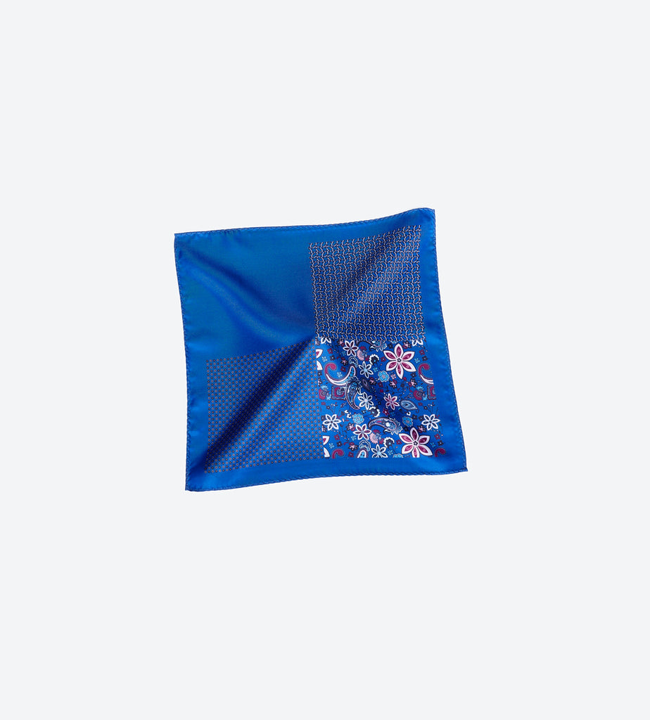 Dark Blue Paisley Pocket Square