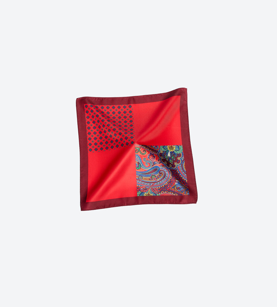 Red-Maroon Pocket Square