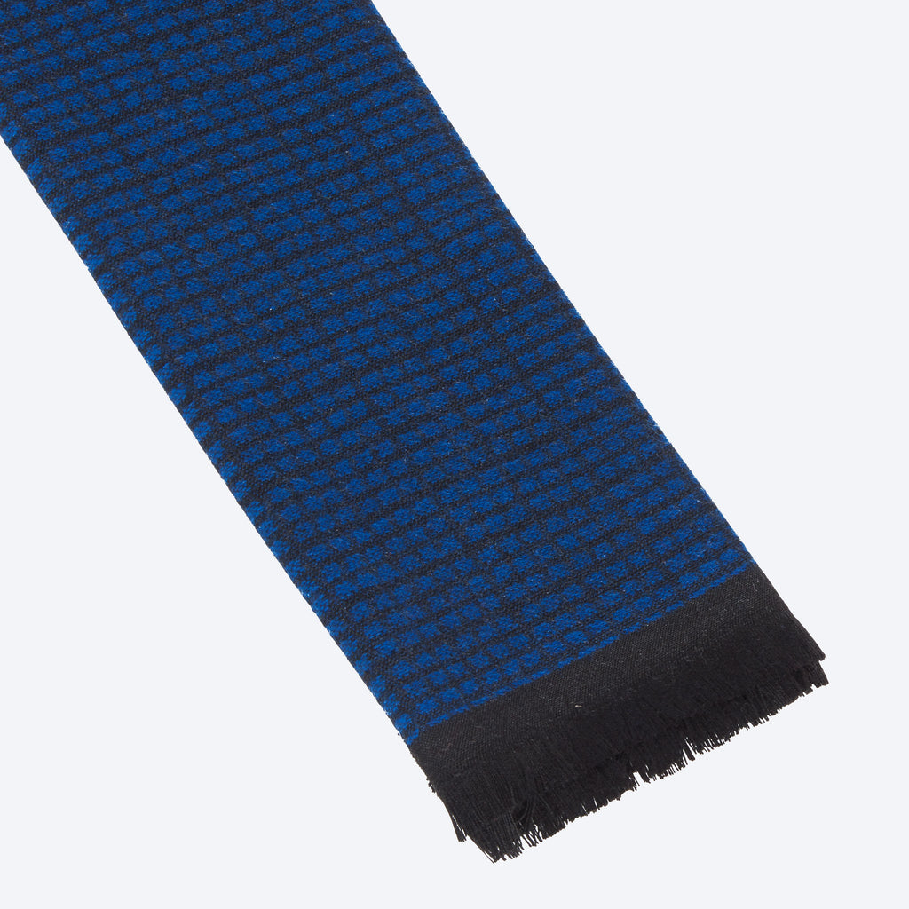 Deep Blue Pattern Scarf