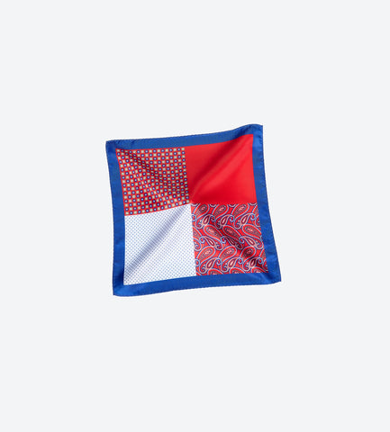 Red-Blue Pocket Square