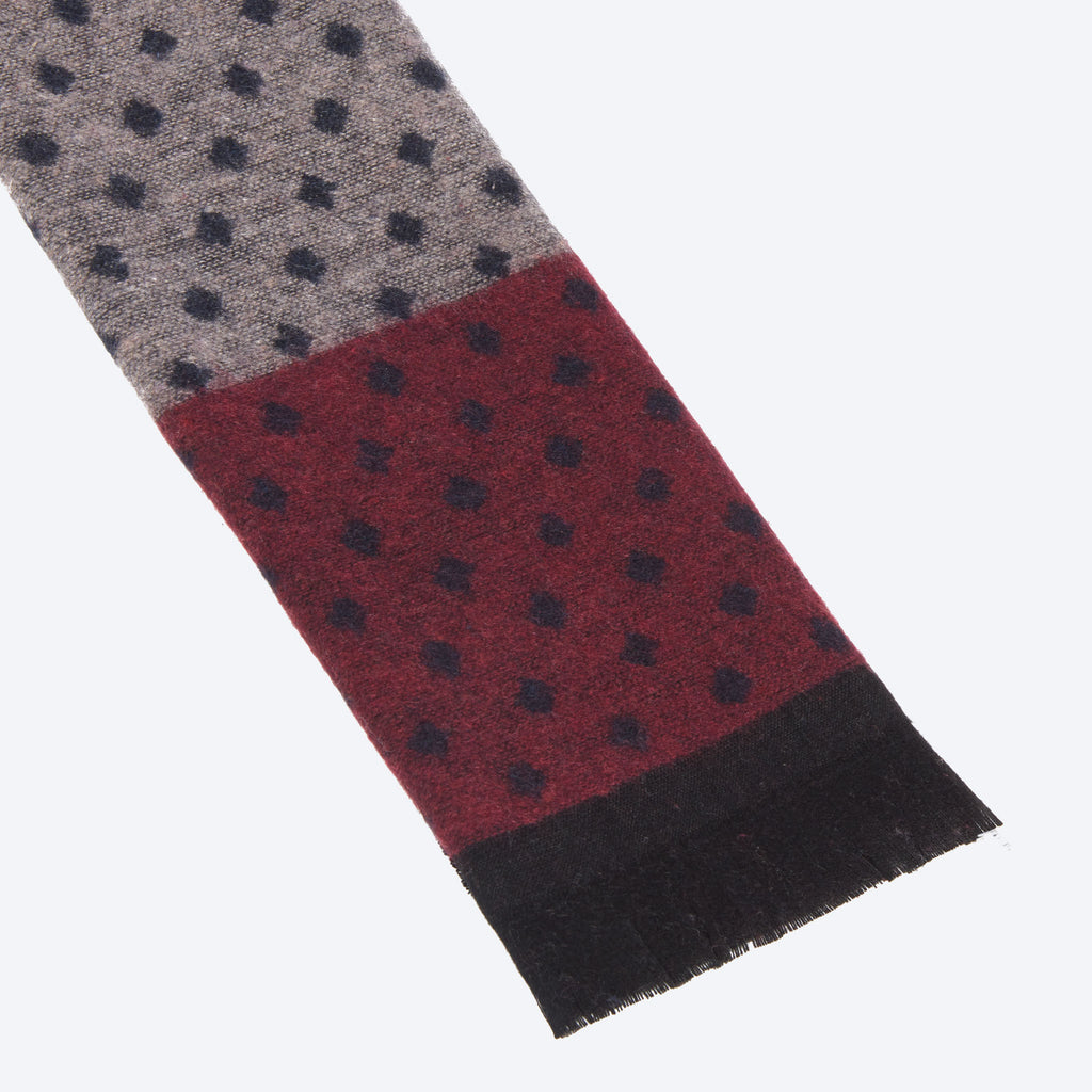 Burgundy Brown Multi-Color Scarf