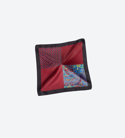 Black-Maroon Pocket Square