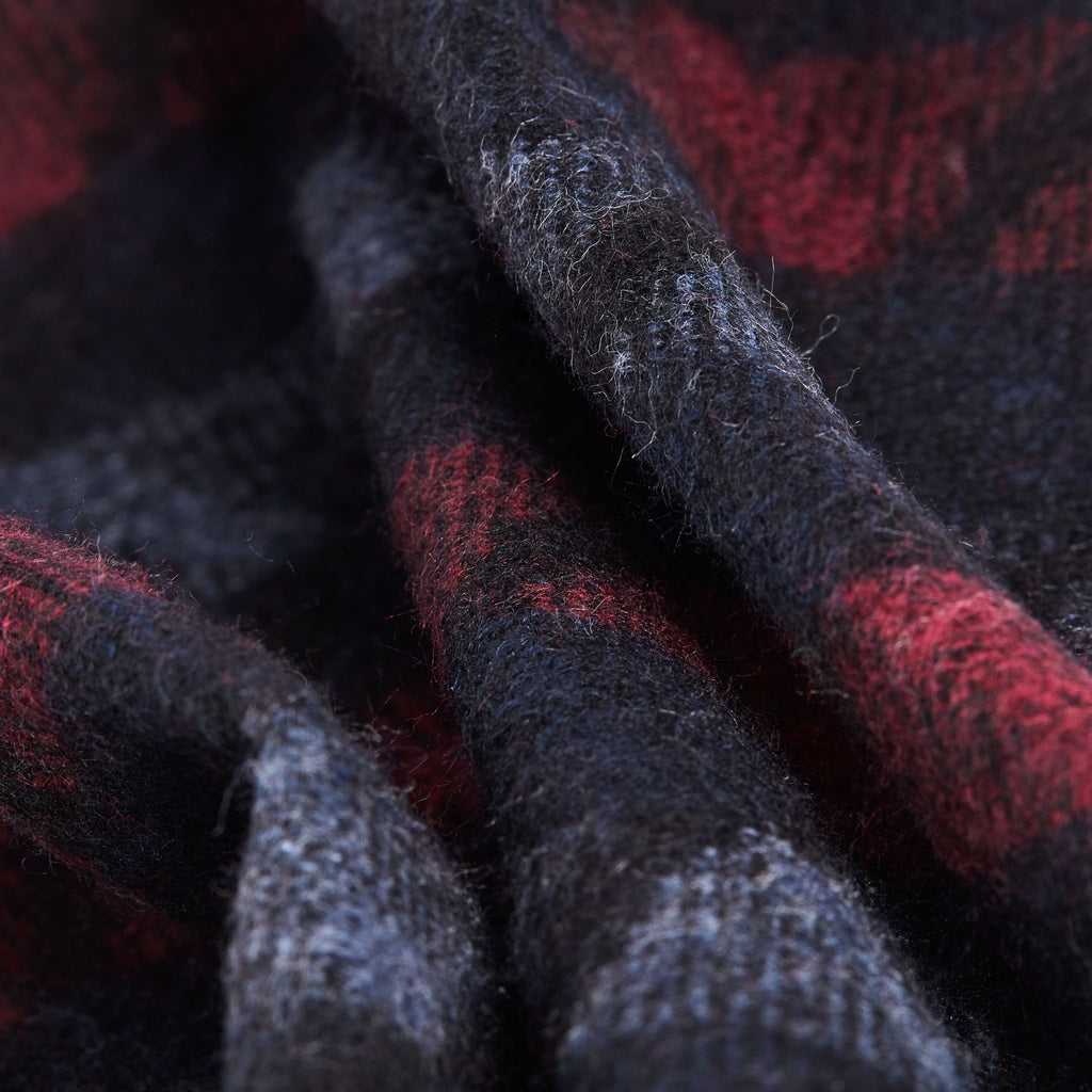 Black Red Multi-Pattern Scarf