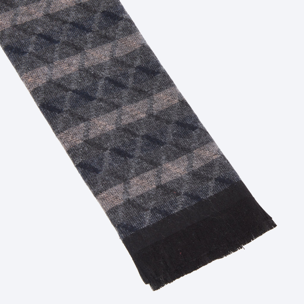 Brown Grey Navy Scarf