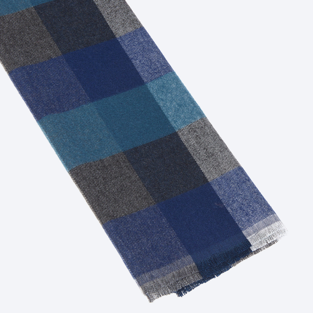 Green Navy Grey Multi-Color Scarf