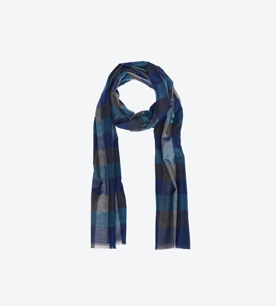 Green Navy Multi-Color Scarf