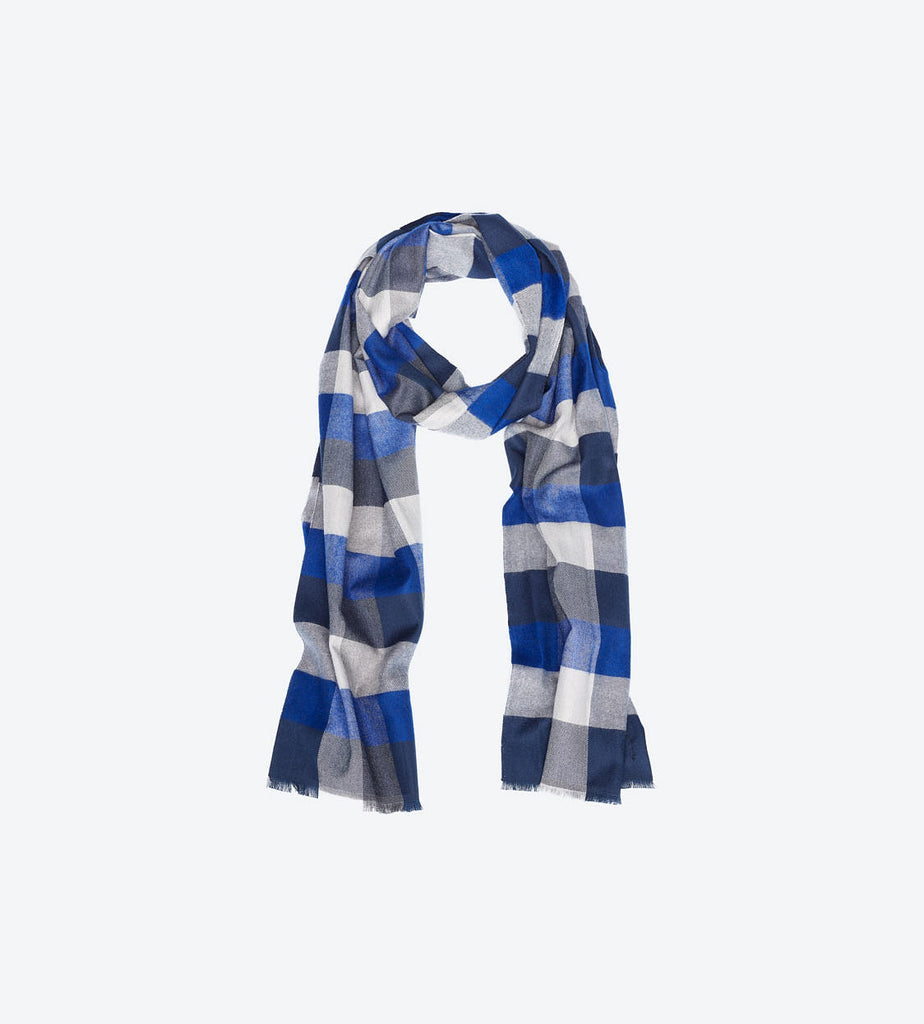 Blue Navy Multi-Color Scarf