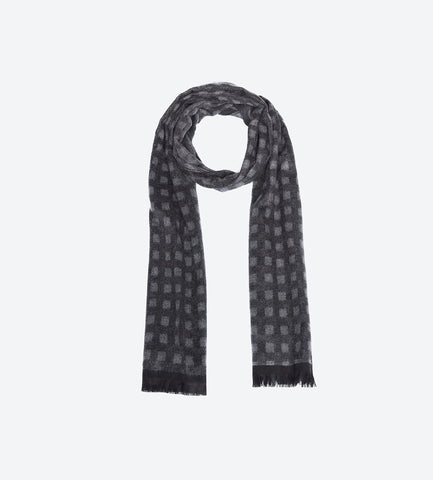 Brown P Grey Scarf