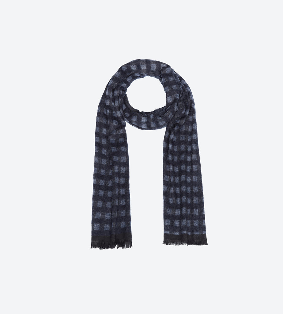 Blue P Grey Scarf