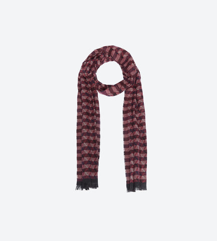Red Black Pattern Scarf
