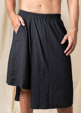 Black Bohemian Skirt Shorts