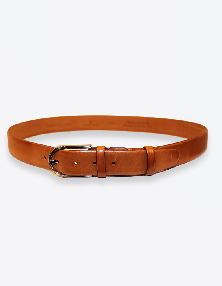 Tobacco Matte Leather Belt