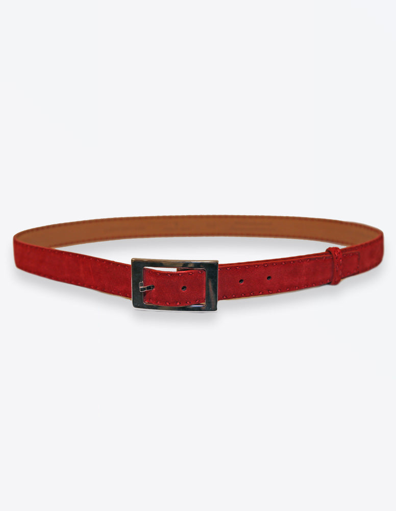 Red Suede Belt