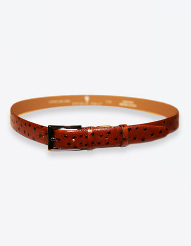 Ostrich Leather Tobacco Belt