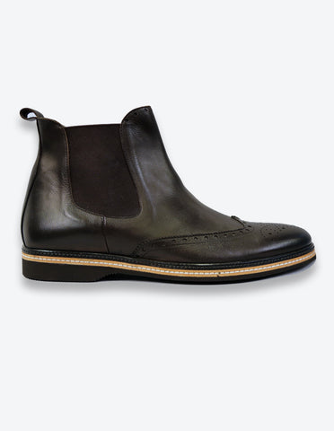 Chocolate Oxford Chelsea Boots