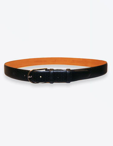 Black Perfed Belt For Fashionable Men