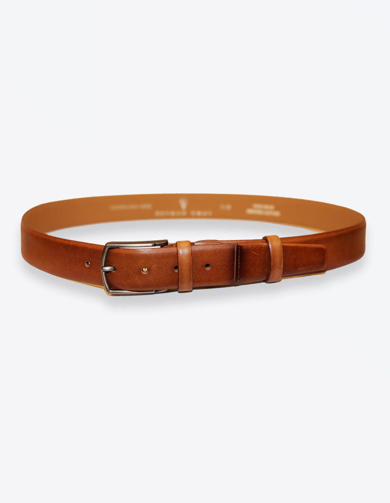 Matte Tobacco Leather Belt