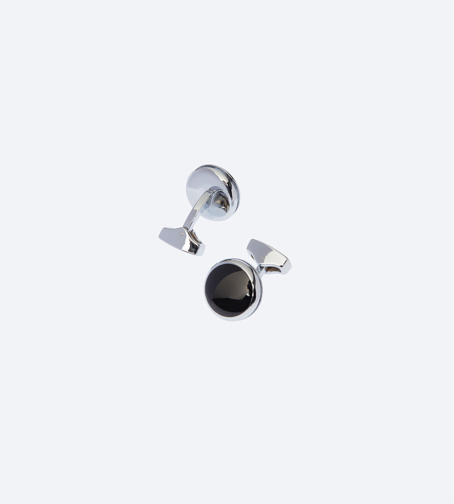 Black Silver Cufflink For Fashionable Men