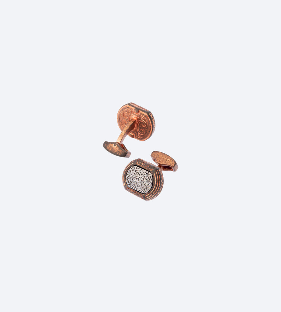 Tribal Copper Cufflink