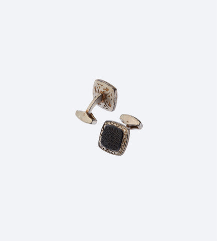 Tribal Black Square Cufflink