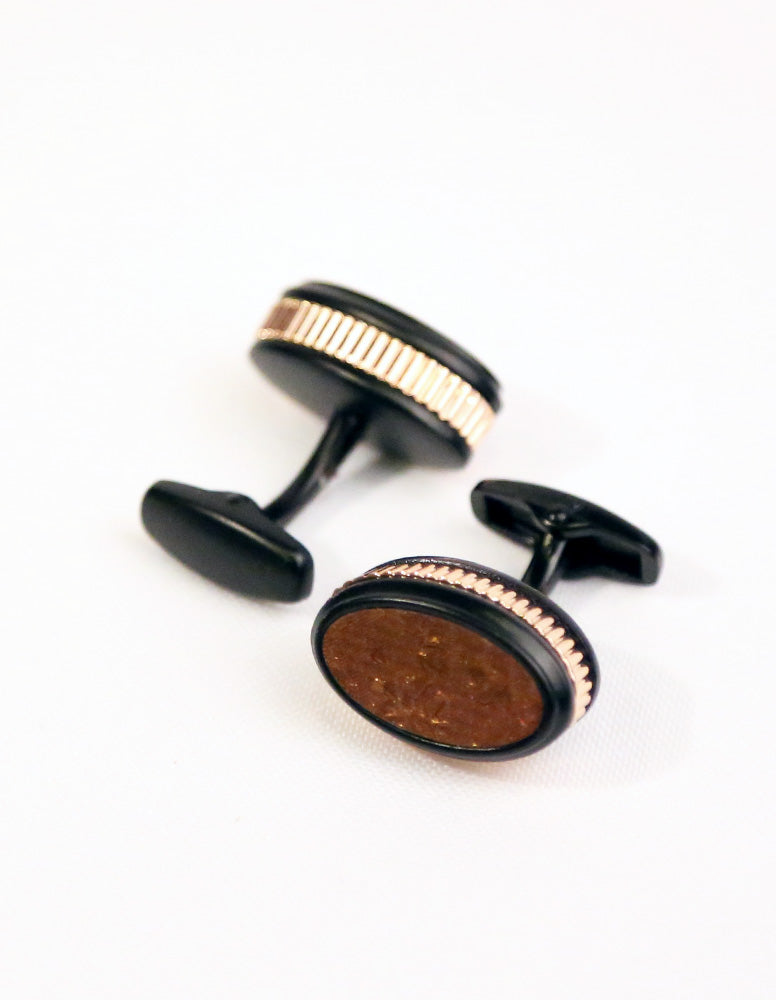 Black Brown Cufflink