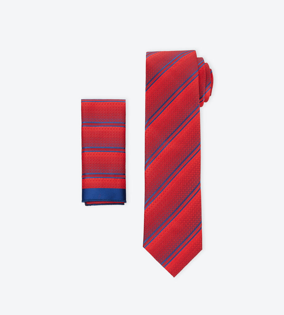 Red-Blue Striped Tie