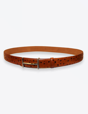 647ef1ce5d1ad Ostrich Leather Tobacco Belt – Peyman Umay