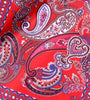 Blue-Red Full Paisley Pocket Square
