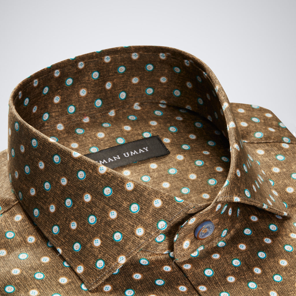 Brown Polka dot Shirt
