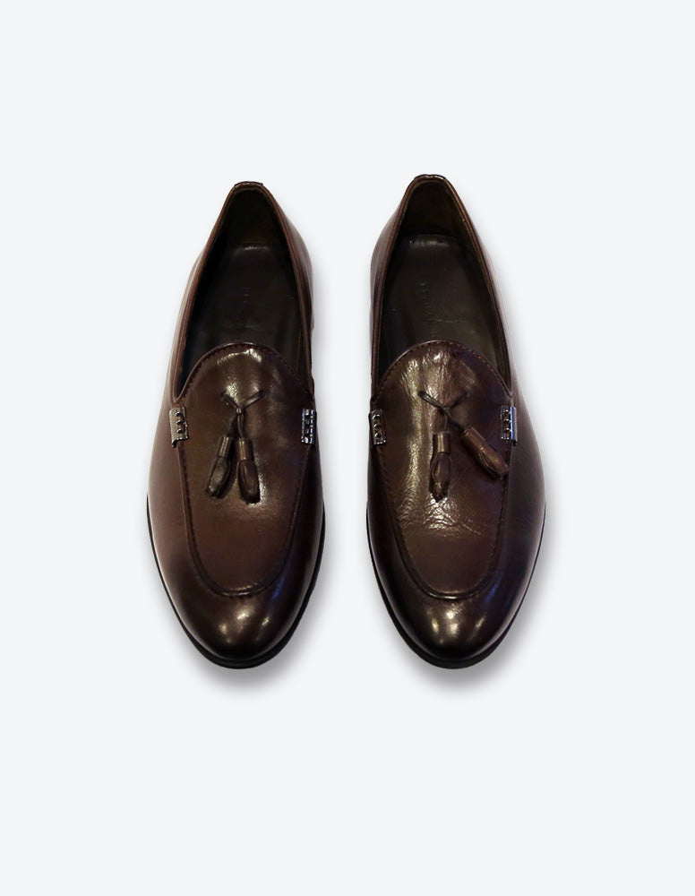 Chocolate Tassel Loafer Shoes