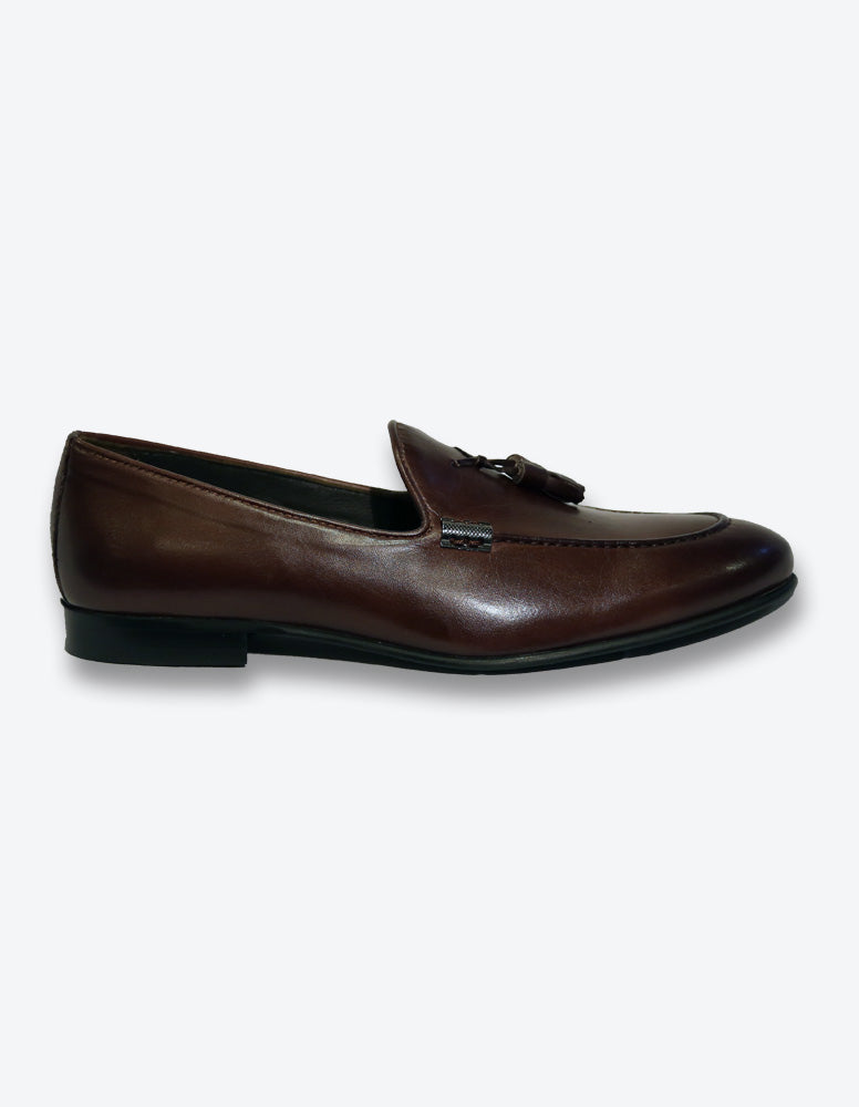 Chocolate Tassel Loafer