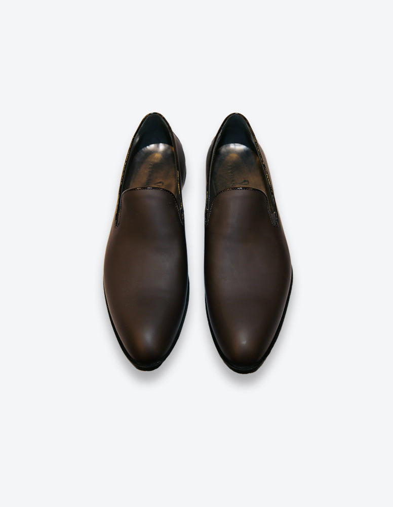 Matte Chocolate Loafer Shoes