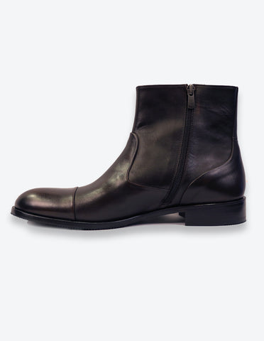 Chocolate Leather Chelsea Boots