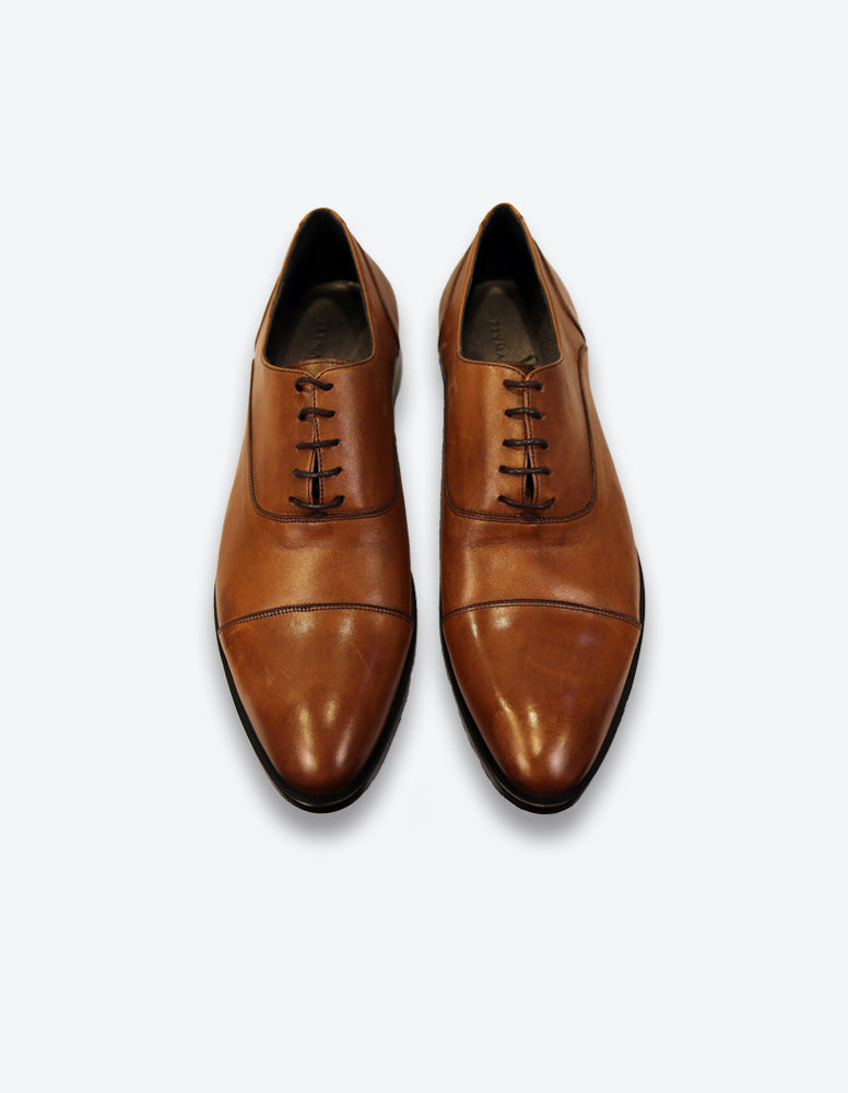 Tobacco Leather Balmorals