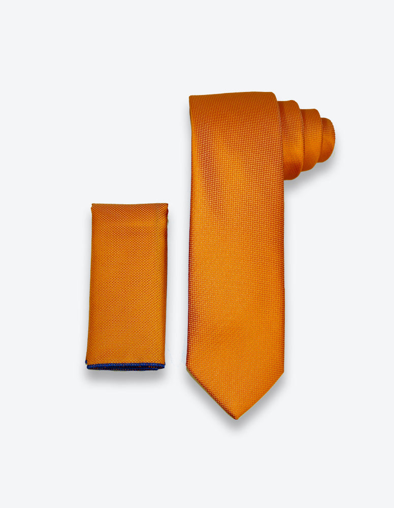Solid Orange Tie