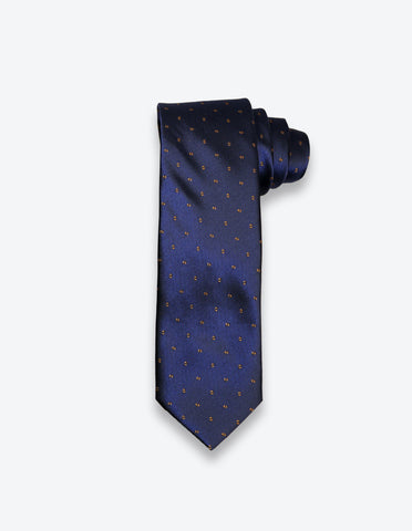 Navy-Brown Dotted Tie