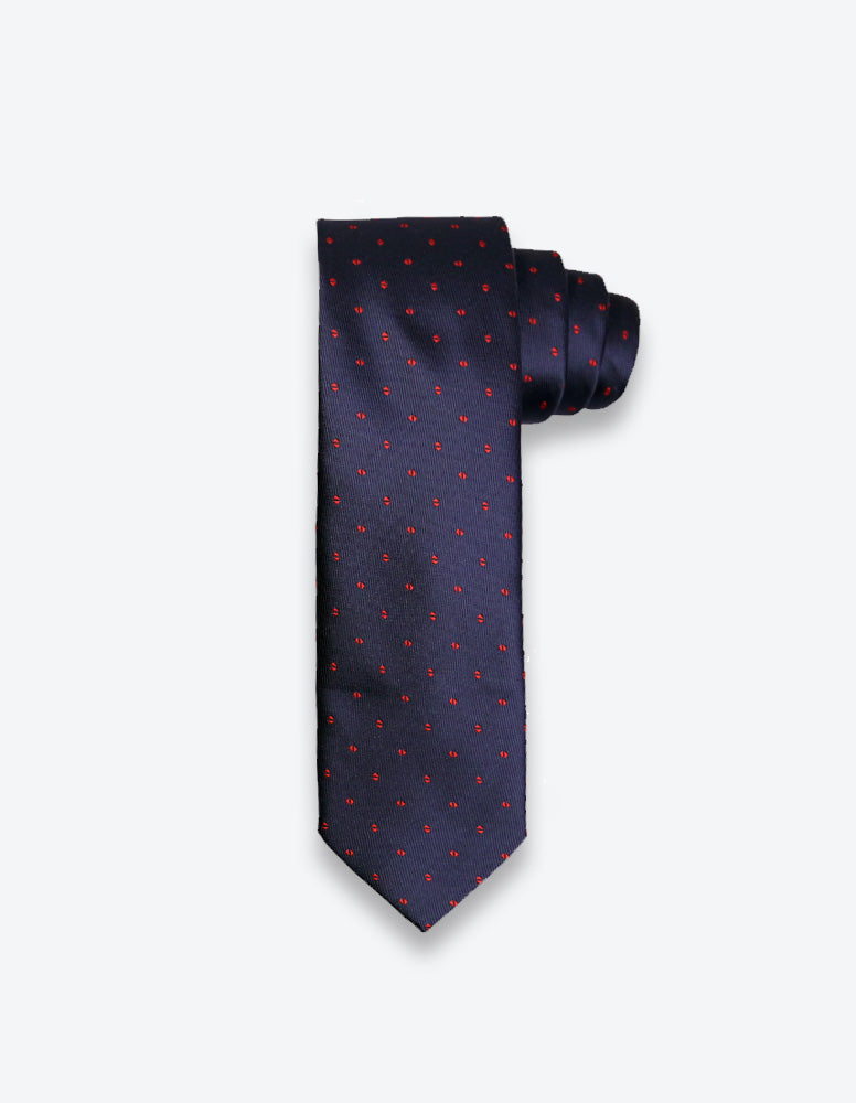 Navy/Red Dotted Tie