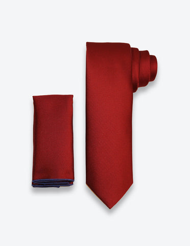 Dark Red Solid Tie
