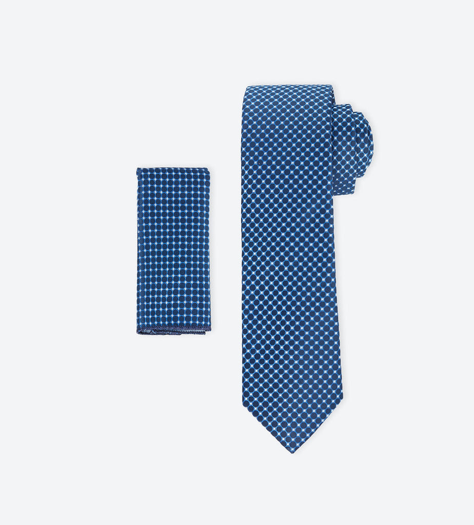 Blue-White Dotted Tie