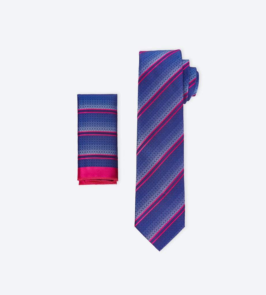 Purple-Fuchsia Striped Tie