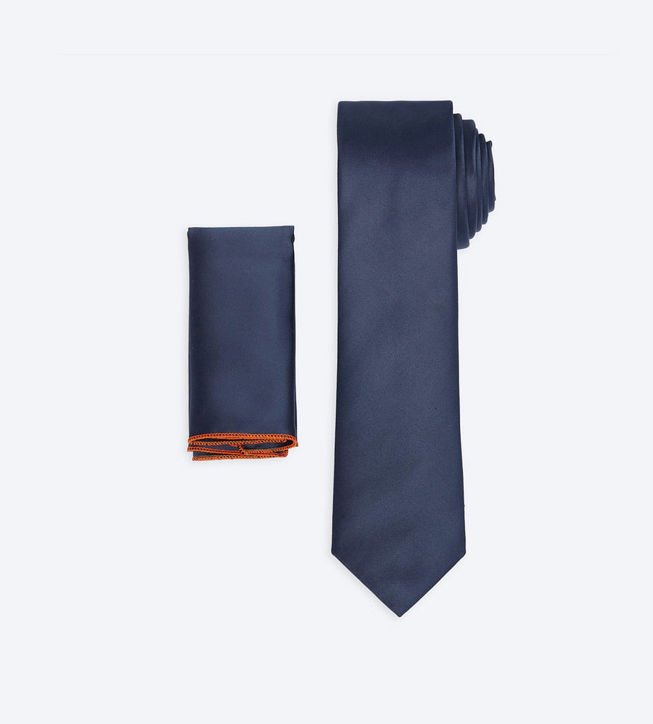 Metallic Navy-Blue Tie