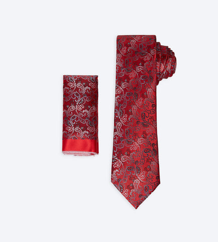 Red Paisley Tie
